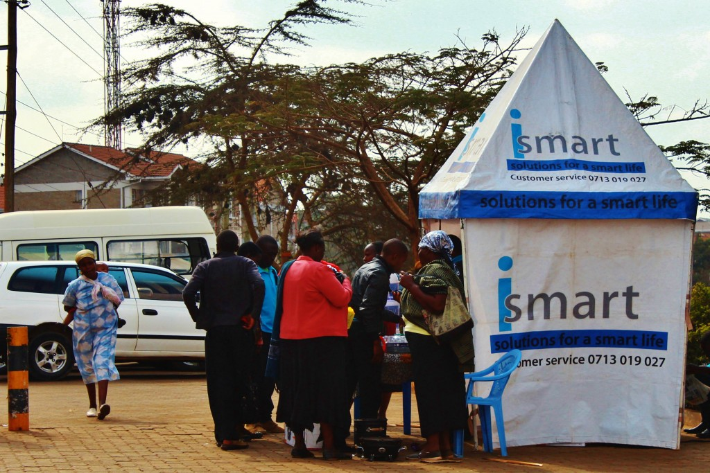 A pop-up store outside the Livelyhoods office, in Kawangware