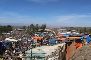 The Saturday market in Lalibela Town