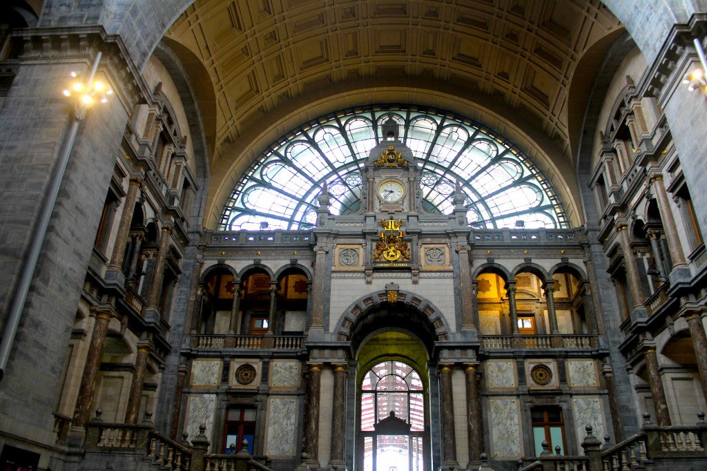 The Antwerp train station is pretty.