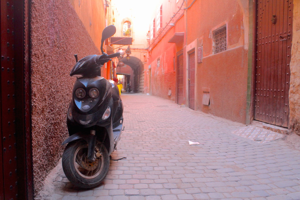 One of the back streets in the Marrakech medina