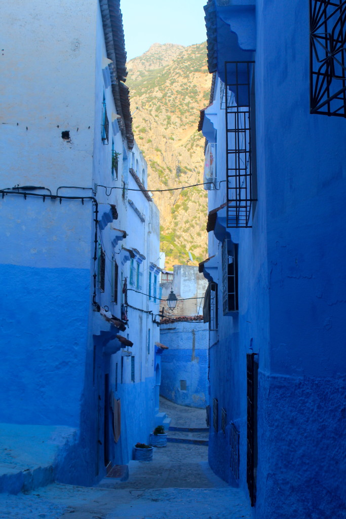 Chefchaouen's streets are all like this: beautiful and blue