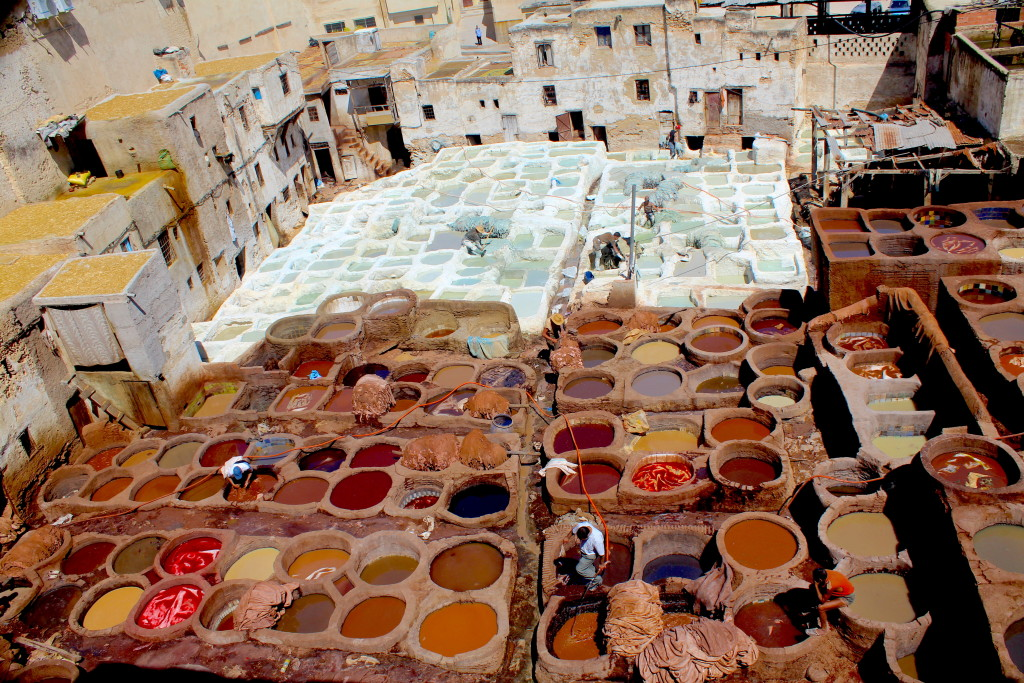 The tannery in Fes