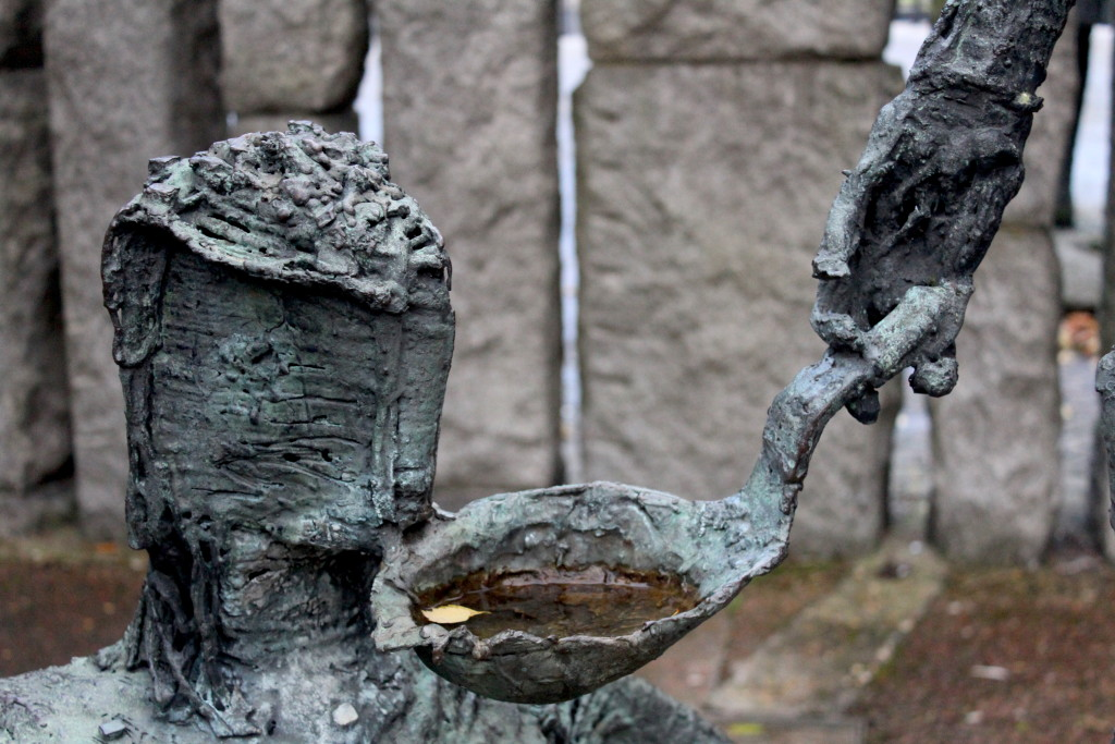 A sculpture in remembrance of the Irish Famine, in Dublin's St. Stephen's Green